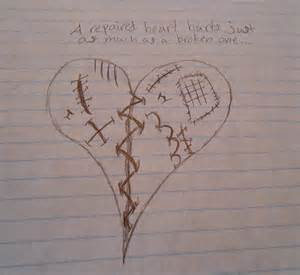Broken Heart Drawings