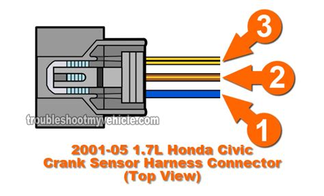 Crankshaft Sensor Wire Diagram For 2001 Honda Civic Dx by Part 1 How To Test The Crank Sensor 2001 2005 1 7l Honda