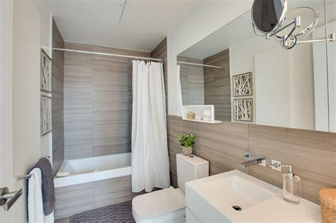 gorgeous tiled modern bathrooms  condominiums home