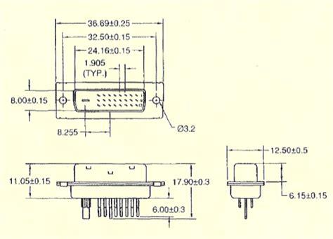 dvims dvi  dual link male solder connector
