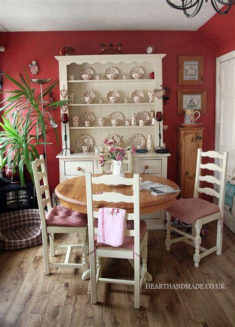 red walls chintz snack set   white furniture