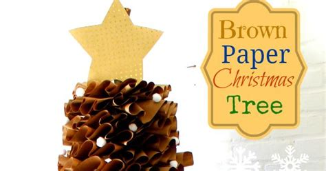 how to make brown paper christmas tree decorations how to make a size brown paper tree hometalk