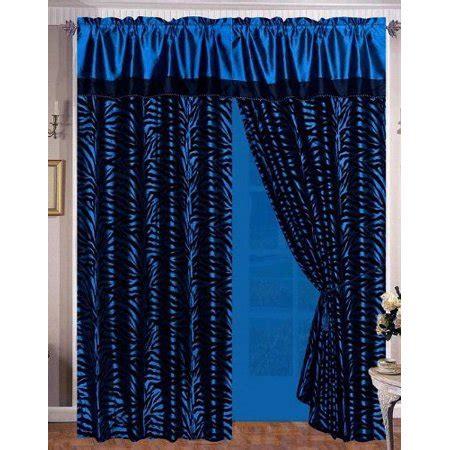 navy blue curtains walmart navy blue black zebra flocking curtain window panels 8