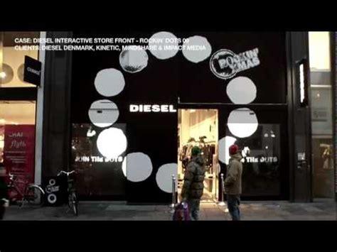 interactive window projection interactive store diesel
