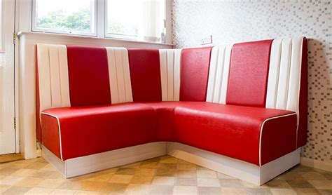 Bespoke Banquette Seating Red And White Banquette Seating