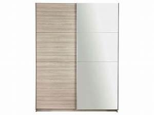 Armoire Porte Miroir : armoire 2 portes avec miroir fast 2 coloris ch ne shannon ~ Teatrodelosmanantiales.com Idées de Décoration