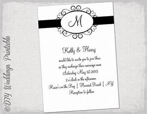 wedding invitation template black and white quothearts With black and white heart wedding invitations