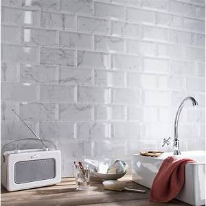 faience mur blanc metro carrare l10 x l20 cm leroy merlin With leroy merlin carrelage metro
