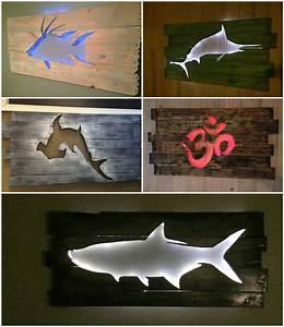 Beautiful Backlit Pallet Wall Art • Pallet Ideas • 1001