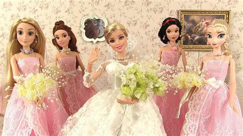 Barbie Doll Dress Up Wedding Dress Disney Princesses Elsa