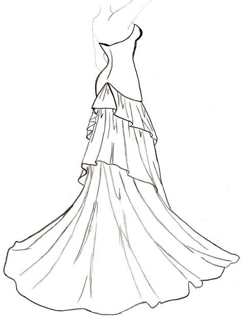 wedding dress outline  clipartioncom