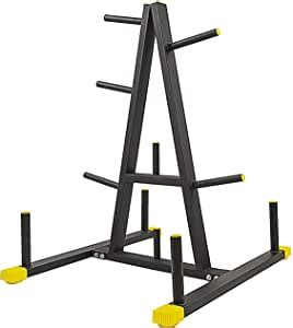 amazoncom balancefrom      weight plate rack  barbell holders  pound