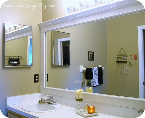 Framed Bathroom Mirror Ideas by Bathroom Mirror Framed With Crown Molding Bathrooms