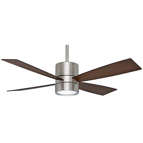 casablanca ceiling fan light kit shop casablanca bullet 54 in brushed nickel downrod mount
