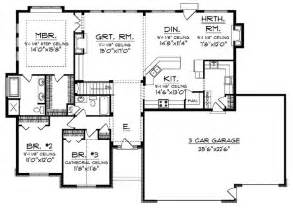 Ranch Style Open Floor House Plans