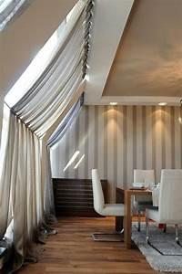 Gesims Für Vorhänge : 1001 ideen f r dachfenster gardinen und vorh nge ~ Michelbontemps.com Haus und Dekorationen