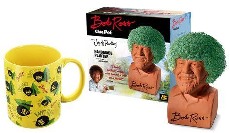 Bob Ross Chia Pet & Happy Trees Mug Gift Set 849795031543