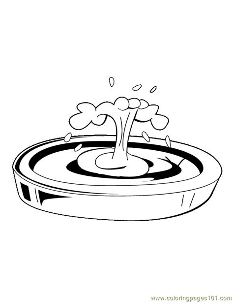water fountain coloring page   coloring