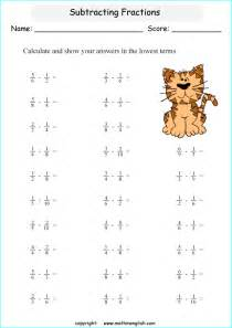 adding and subtracting fractions word problems worksheet subtract fractions with unlike denominators that are multiples math class 4 fraction worksheet