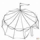 Coloring Tent Circus Pages Printable Drawing Dot Paper sketch template