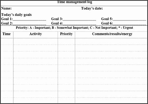 Time Management Diary Template by 8 Daily Activity Log Template For Companies