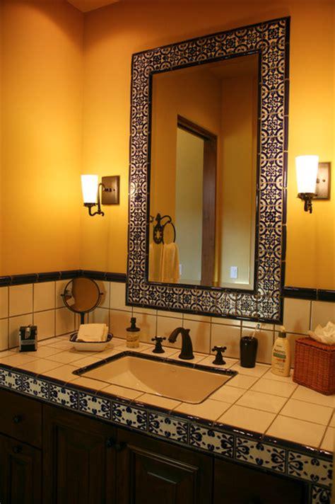 baths  latin accents tiles mediterranean
