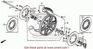 Honda Cb650sc Nighthawk 1983  D  Usa Front Wheel