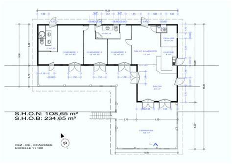 plan maison en forme l