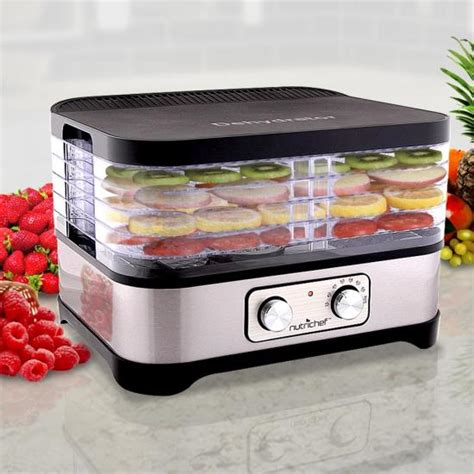 nutrichef pkfd30 kitchen cooking dehydrators steamers