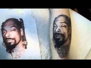 Snoop Dogg Tattoo Portrait - YouTube