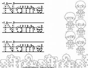 editable super hero name tracing printable you child can With free printable name tracing templates