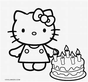 Hello Kitty Birthday Cupcake Coloring Pages Coloring Pages