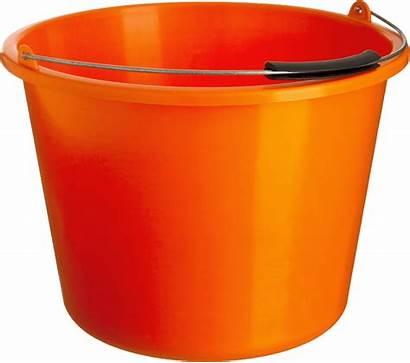 Bucket Clipart Orange Transparent Objects Background Trap
