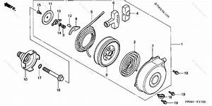 Honda Atv 2001 Oem Parts Diagram For Recoil Starter