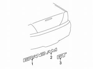 Pontiac Grand Am Deck Lid Emblem  Grand  Gt Model  Manta