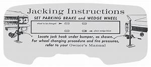 Decal  62 Cadillac  Trunk  Jacking Instruction