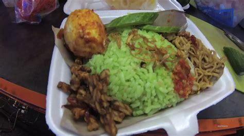 greater jakarta street food  part lampung green uduk