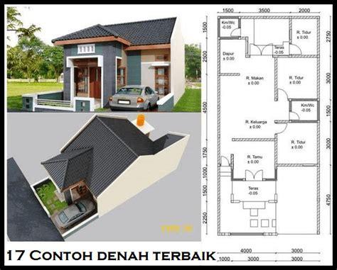 denah rumah minimalis  lantai ukuran  desain