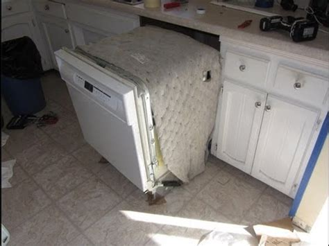 install a dishwasher in an existing kitchen cabinet dishwasher removal installation 9853