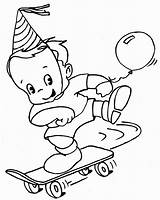 Skateboard Coloring Pages Boy Printable Balloon Skating Brought Play Balloons sketch template