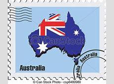 Clipart Vecteur de timbre, australie, vecteur vecteur