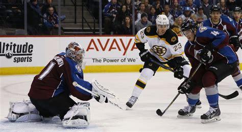 Boston Bruins blow lead, lose 3-2 to Colorado Avalanche in ...