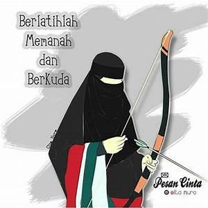 660 Gambar Kartun Muslimah Cantik Terbaru 2018 HD Terbaik