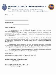 proposal letter With security proposal letter
