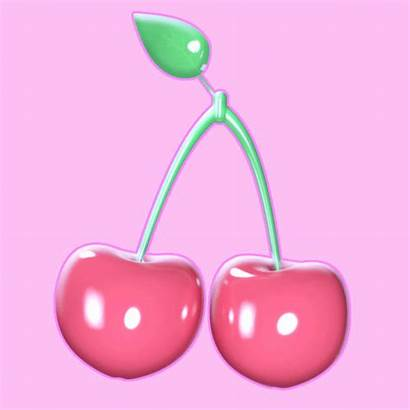 Kawaii Fruit Cherry Gifs Happy Giphy Fun