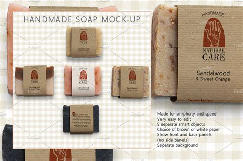 It comes in psd format in 5000 x 3333 pixels resolution. Handmade Soap Marketing Kit ~ Mockup Templates ~ Creative ...