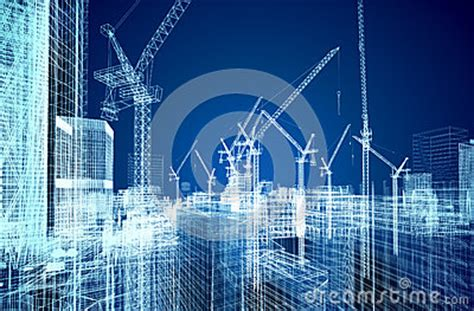 construction site blueprint stock image image
