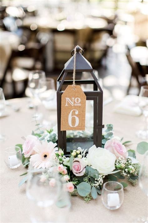 51 unique table number ideas for wedding receptions and diys