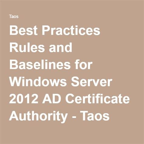practices rules  baselines  windows server