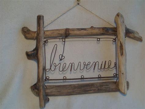cadre quot bienvenue quot en bois flott 233 et fer oxyd 233 d 233 corations murales par emois et bois